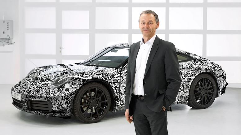 August Achleitner with a camouflaged 2020 911